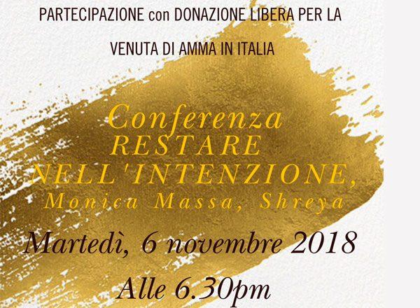 Conferenza, Restare nell'Intenzione Monica Massa, Shreya